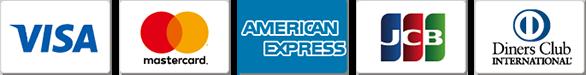 クレジットカード(VISA、Master、JCB、アメリカン・エキスプレス、ダイナース)